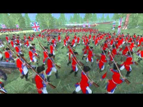 The FRENCH & INDIAN WAR Mod 3d anim of the battle of Monongahela /braddock defeat