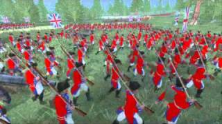The FRENCH & INDIAN WAR Mod 3d anim of the battle of Monongahela /braddock defeat