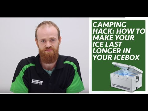 Camping Hack: How to make your ice last longer in your icebox/esky/chilly bin