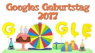 Google Geburtstagsüberraschung 🍾 27.09.17 🎂 google birthday surprise spinner Doodle