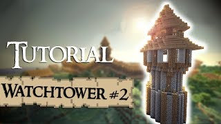 Minecraft Tutorial: How to build a medieval guardtower (Version 2)