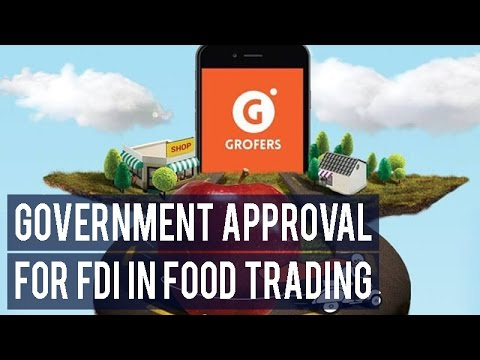 Grofers India seeks government approval for FDI in food trading