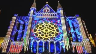 Chartres Cathedral Light Show - Amazing