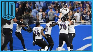Justin Turcker le dio la victoria a Baltimore sobre Detroit con un histórico gol de campo.   #NFL #JustinTucker #Baltimore
