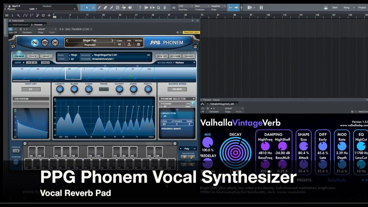 PPG Phonem Vocal Synthesizer - Vocal Reverb Pad