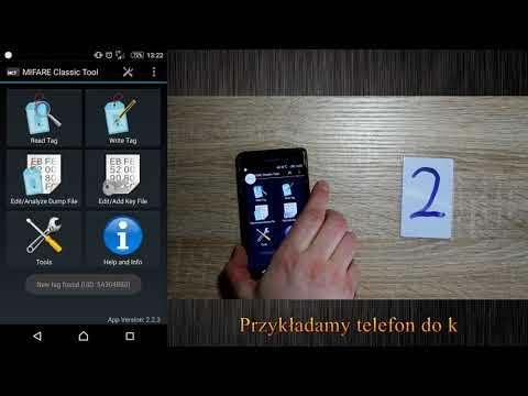 Kopiowanie klonowanie bloku 0 UID karty mifare 1k przy pomocy smarfonu z NFC oraz aplikacji MCT