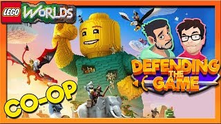 Lego Worlds Split Screen COOP | Pink Space Cowboy! | Defending The Game
