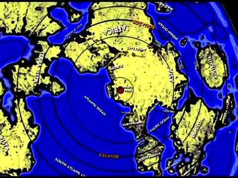Μap Of Flat Earth Created By Plasma Moon Image