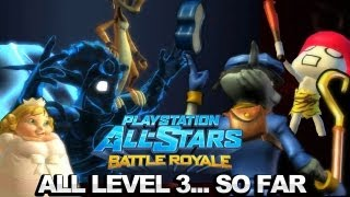 All Level 3 Attacks...So Far - PlayStation All-Stars Battle Royale