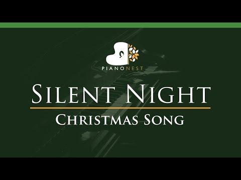 Silent Night - Piano Karaoke / Sing Along On E (Lower Key)