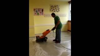 Makro Temizlik / PVC Zemin Temizliği ve Cilalama Video