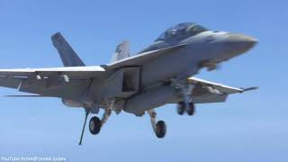US Navy F-18 Aircraft Carrier Harry S Truman conducts training exercise
