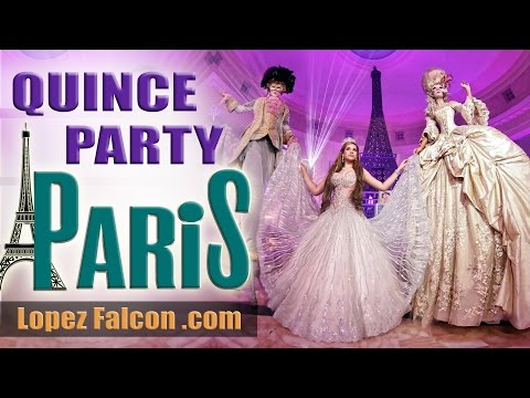 Night In Paris Quinceanera Theme Party Video Photography Dresses Westin Colonnade Coral Gables
