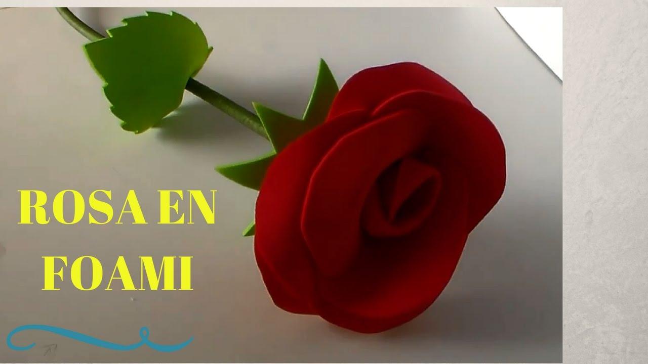 Como hacer una rosa en foami youtube - Como secar una rosa ...