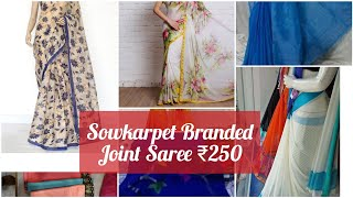 Branded Joint Sarees at Sowkarpet/ Joint sarees, Designer Sarees Collection with price