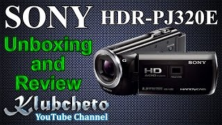 видеокамера Sony HDR-PJ320E разопаковане  ревю (обзор)