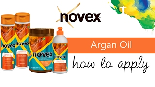 Novex Argan Oil - How to apply