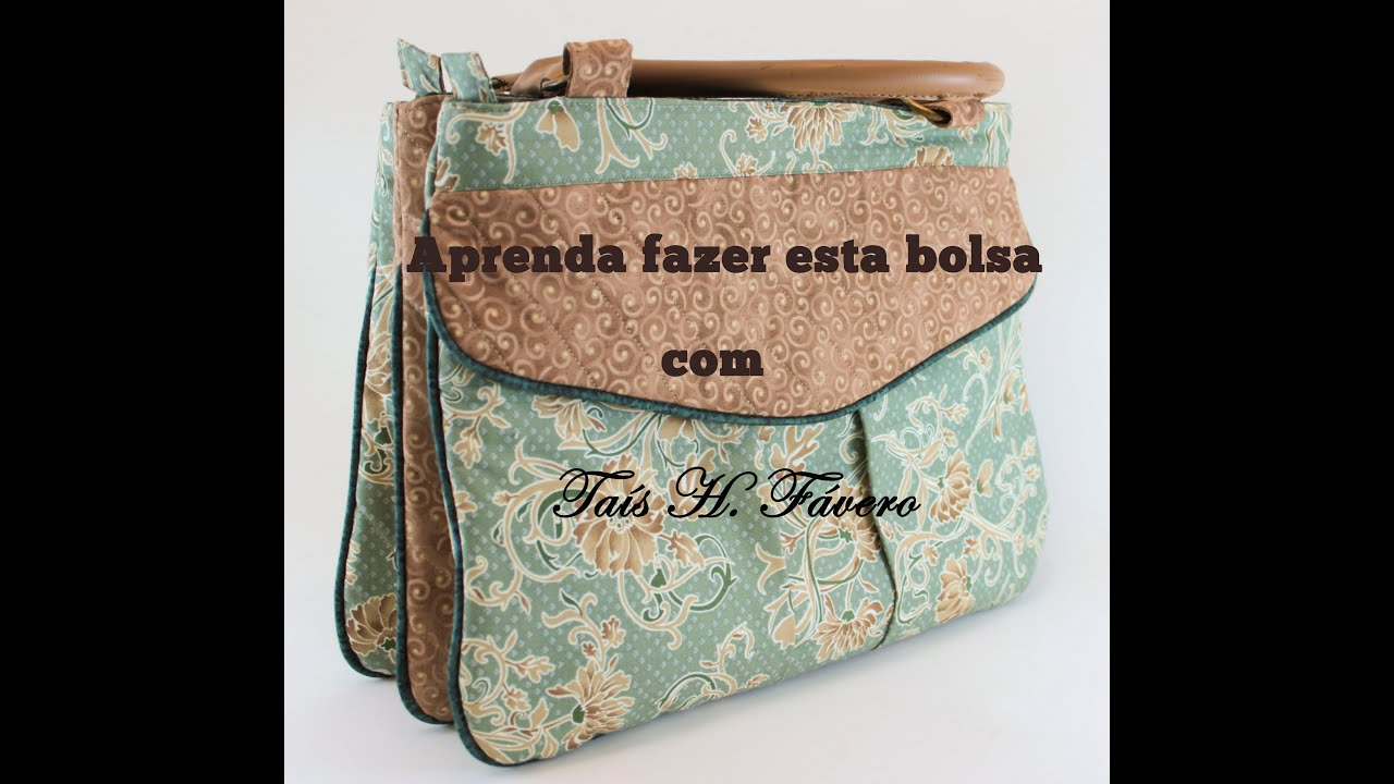 Bolsa De Mão Artesanal Passo A Passo : Passo a da bolsa com tr?s divis?rias por ta?s h