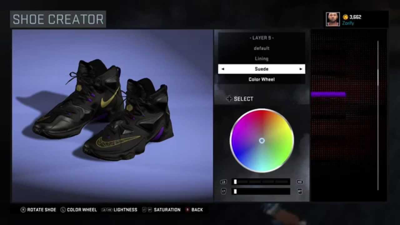 best service c91b9 f5765 NBA 2K16 Shoe Creator - Nike LeBron 13