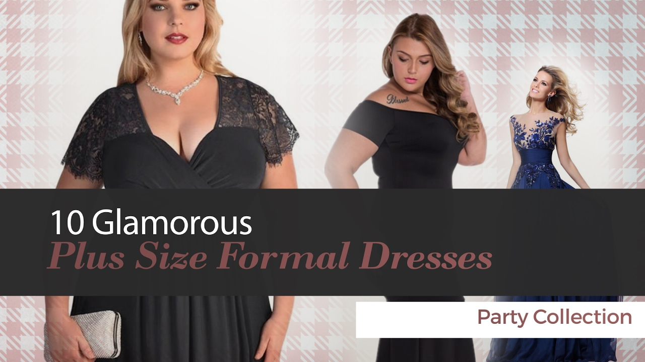 78edd6a2e5b 10 Glamorous Plus Size Formal Dresses Party Collection - YouTube