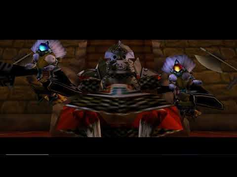 The Legend of Zelda : Ocarina of Time Walkthrough Part 38 The Spirit Temple (C) Twinrova Fight (N64)