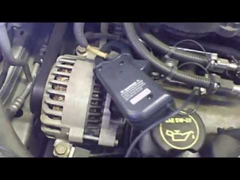Alternator replacement Ford Windstar 1999 - 2003 scope shows bad diode pattern