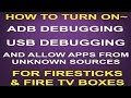 🛠TURN ON ADB DEBUBBING~USB DEBUGGING~ALLOW APPS FROM UNKNOWN SOURCES~FOR FIRE DEVICES🛠(JD)...