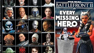 """Battlefront 2 is MISSING some ICONIC Heroes and Villains… Yet EA says their """"Vision is Complete"""""""