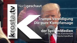 krosta.tv Nachgeschaut: Trumps Vereidigung | Die pure Kampfansgage der SystemMedien