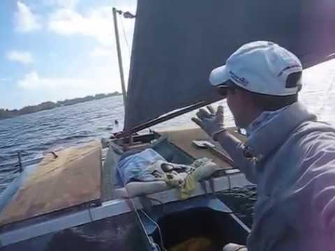 Wa'apa Trimaran Sailing, Majuro Lagoon, Berger, Marshall Islands