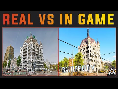 Rotterdam in Real life vs Battlefield 5
