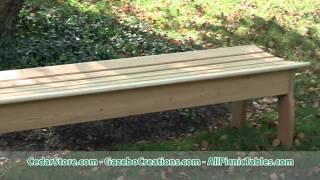 Red Cedar Contoured Bench From Cedarstore.com
