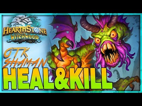 [HEARTHSTONE] HEAL TO KILL -  OTK Battlecry Shaman Deck Guide & Gameplay 🌟 The Witchwood