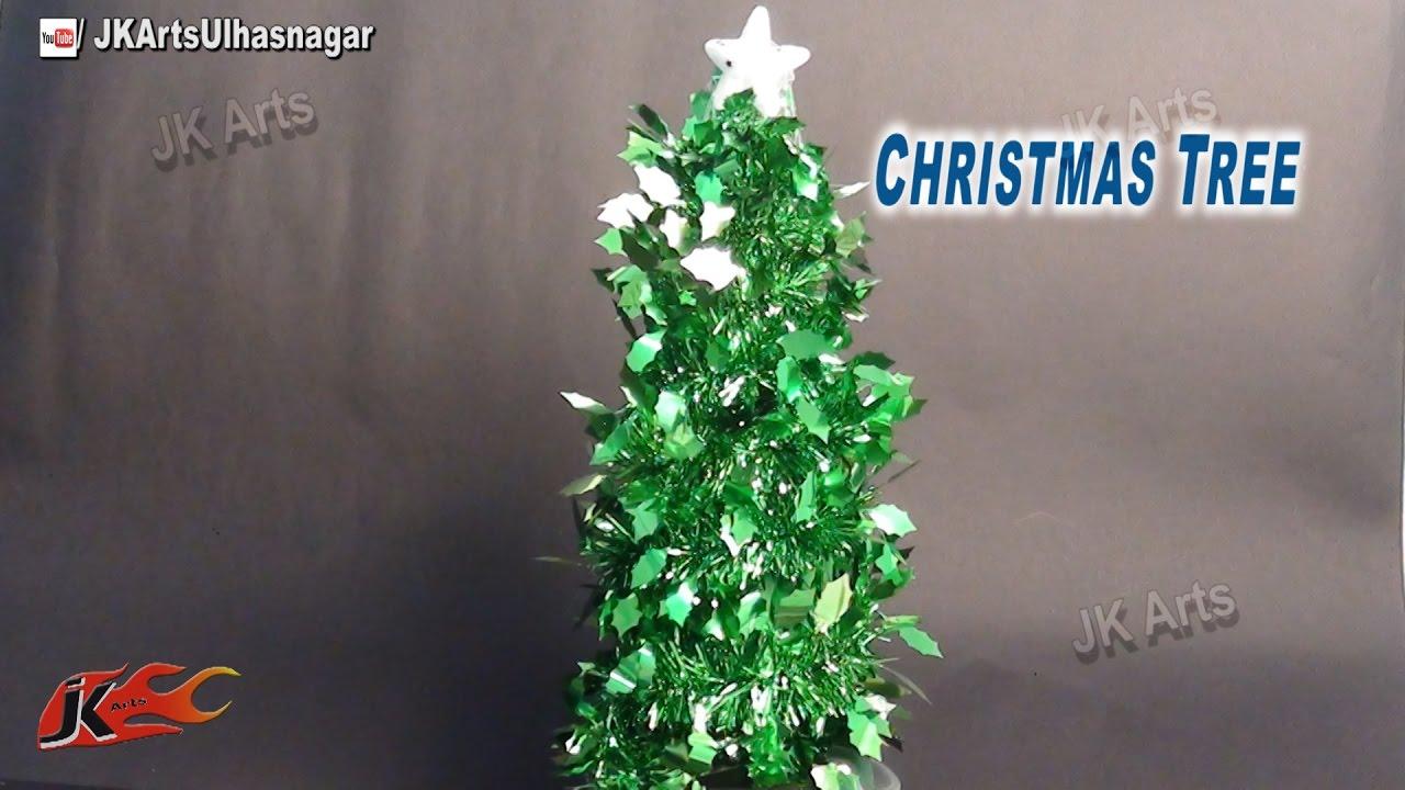 how to make christmas tree with garland diy christmas decorations jk arts 663 youtube - Christmas Tree With Garland