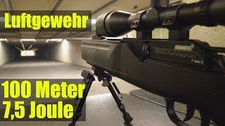 Luftgewehr 7,5 Joule auf 100 Meter