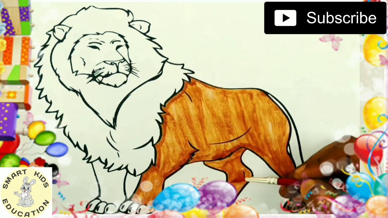 mewarnai gambar singa  mewarnai gambar