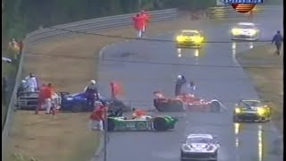 24h of Le Mans 2001 Rain Chaos Huge crash Speedvision