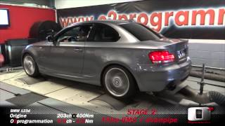 BMW 123d stage 2 @279ch downpipe + reprogrammation moteur