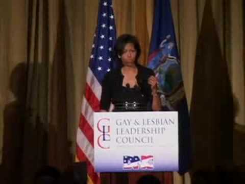 Michelle Obama Speaks to DNC's Gay & Lesbian Leadership Council