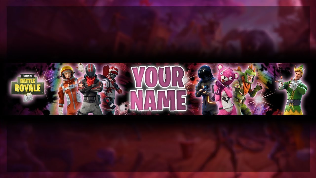 Free Fortnite Youtube Channel Art Fortnite Battle Royale Banner