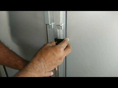 एलमुनीयम कि अलमीरा मे लोक (ताला) लगाने का सब से आसान तरीका How to fix lock in Aluminium Cupboard