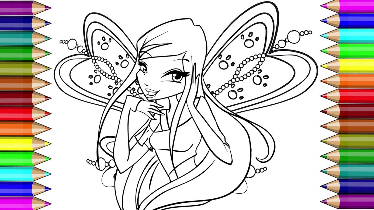 Winx Club Roxy Colouring Page For Kids раскраска рокси Bинкс