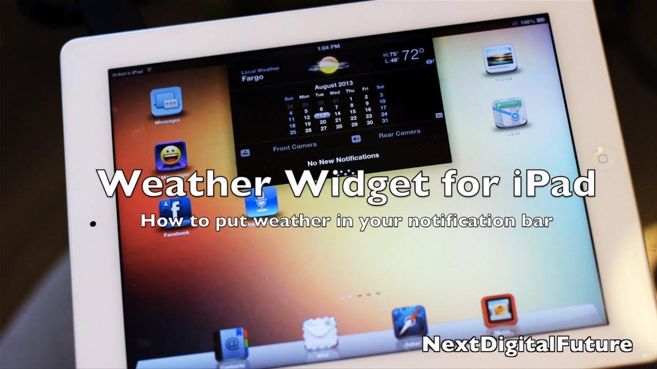 ★ Best Cydia Tweak for iPad - EASY WAY to get stock iPhone Weather App in  Notifications