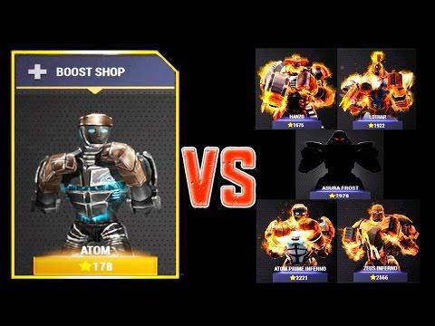 Real Steel Champions FINAL ATOM VS REGION V ROBOTS Series of fights NEW ROBOT(Живая Сталь)