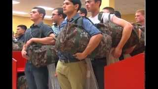 Marine Boot Camp RAW Footage(CBS 7 travelled to Marine Corps Recruiting Depot San Diego in June 2014 for a taste of Marine Boot Camp. Here is the raw footage of what we saw the first few ..., 2014-08-03T22:06:28.000Z)