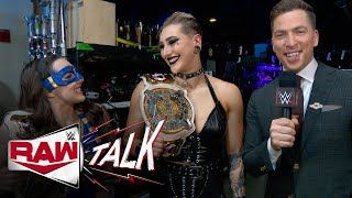 Jeff Hardy, Rhea Ripley \u0026 Nikki A.S.H. and Doudrop talk up their victories: Raw Talk, Sept. 20, 2021