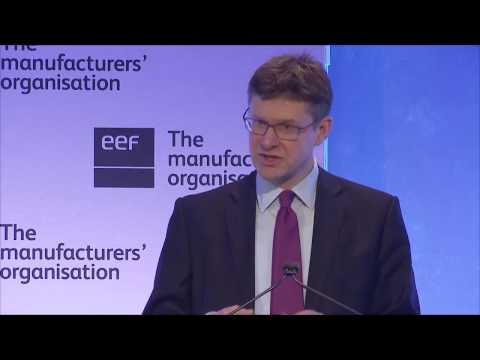 Rt Hon Greg Clark MP talks Industrial Strategy at the National Manufacturing Conference 2017