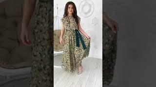 G 0833 2 Платье в пол из шифона с пояском video