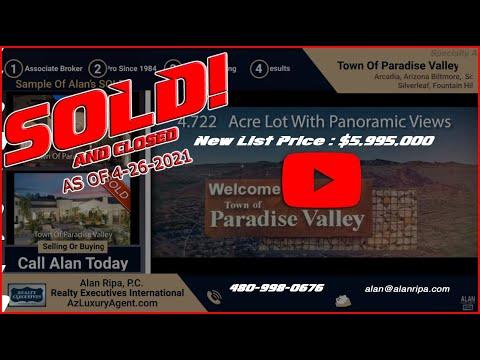 5748 E. Mockingbird Lane • Town Of Paradise Valley Arizona •Now Only $5,995,000