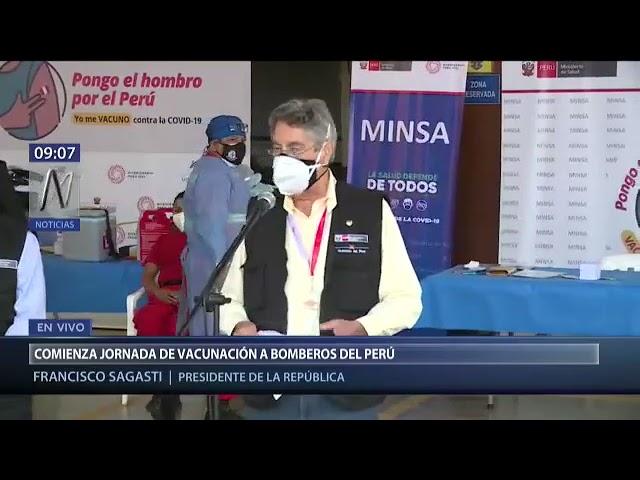 Vacunan a 1200 bomberos peruanos